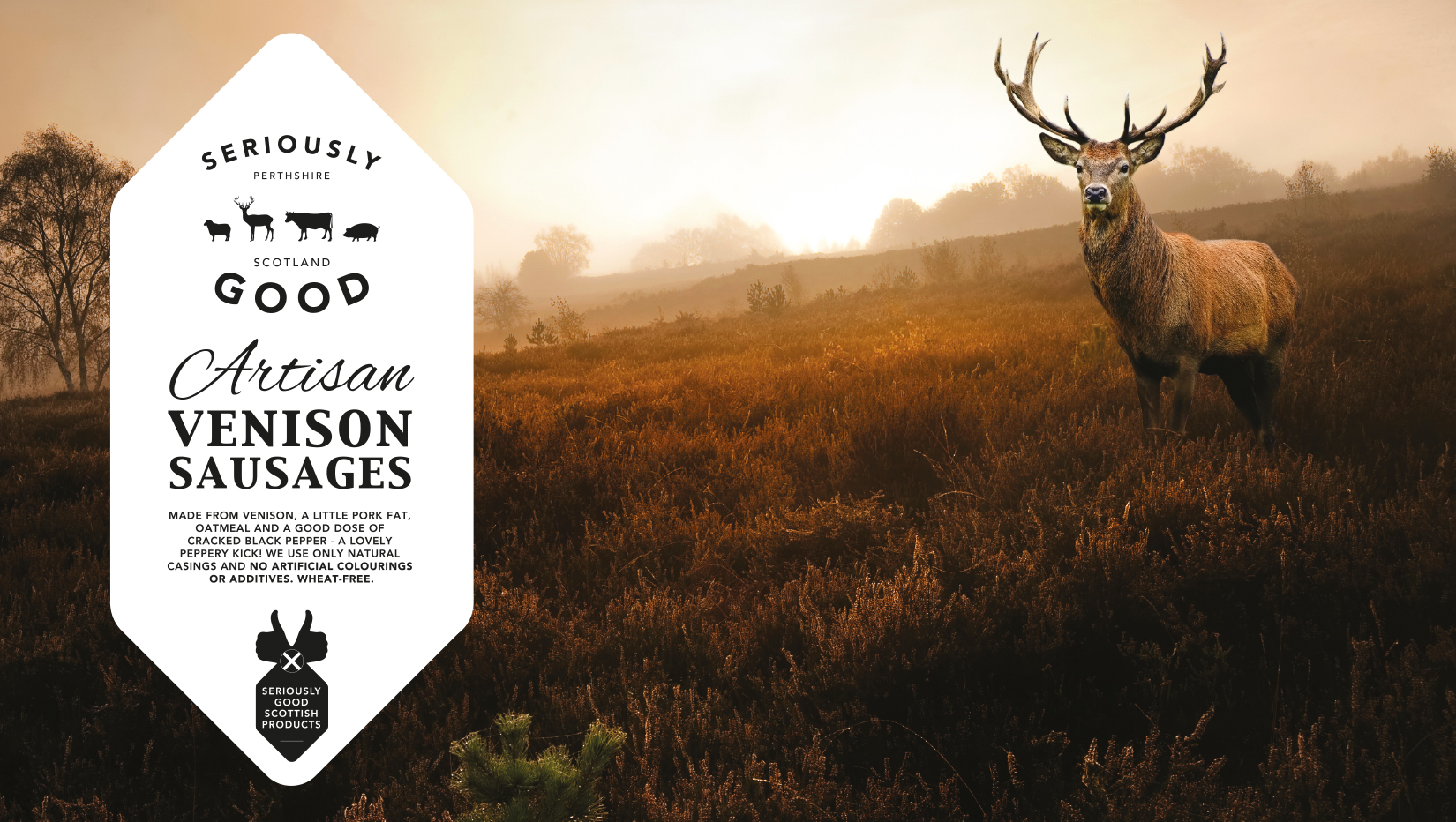 Seriously Good Venison Branding