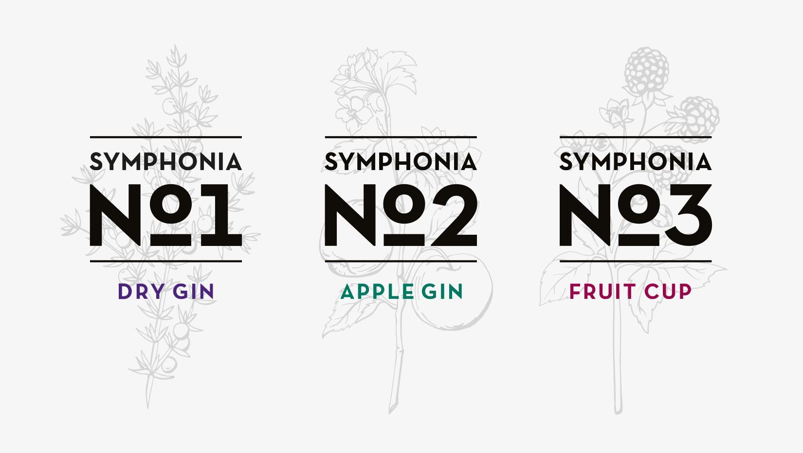 Symphonia Gin Sub Brands