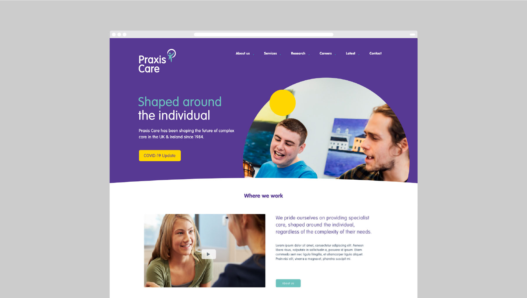 Praxis Care Web Design